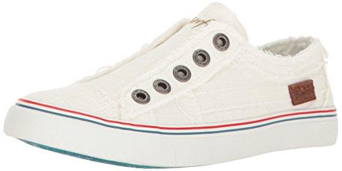 Blowfish Women's Play Sneaker, White, 7.5 Medium US