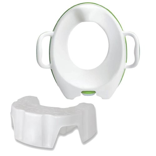Munchkin Arm & Hammer Secure Comfort Potty Seat with Little Looster Potty Step Stool