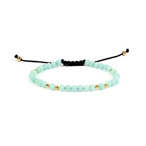 SEXY SPARKLES Amazonite Dainty Thin Delicate Women Tranquility Bracelet