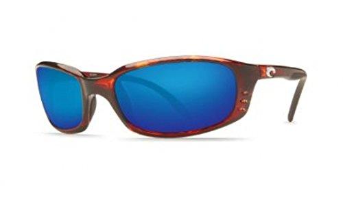 Costa Del Mar Brine Polarized Sunglasses, Tortoise, Blue Mirror - Prescription Sunglasses Costa