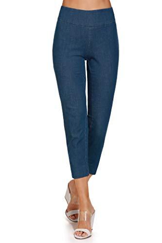 Side Zip Pumps - Boston Proper Women's Everyday Side Zip Stretch Twill Denim High-Rise Capri Pant Denim 10