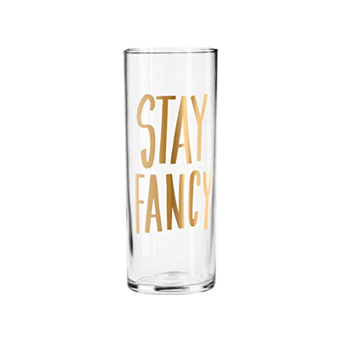 Easy, Tiger Tall Cocktail Glass with Foil, Gold