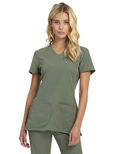 HeartSoul Women's Pitter-Pat V-Neck Scrubs Shirt