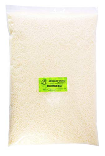 American Soy Organics Millennium Container Wax - 5 lb Bag of Natural Soy Wax for Candle Making