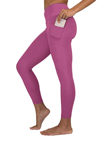 26d8afc865c1c1 90 Degree By Reflex High Waist Tummy Control Interlink Squat Proof Ankle  Length Leggings - Candy