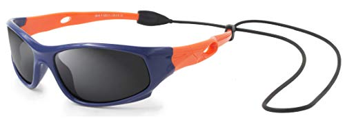 VATTER TR90 Unbreakable Polarized Sport Sunglasses For Kids Boys Girls Youth 816blueorange (Kids Sunglasses)
