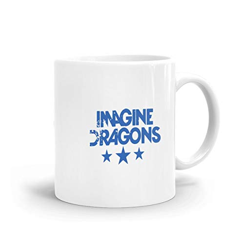 - Imagine Dragons Mug, Ceramic White Large Mug with C-Handle Coffee Drink Container for Office Family