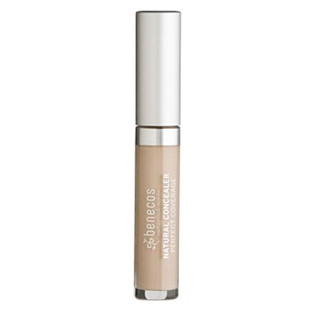Benecos Natural Concealer - Blemish Spot, Dark Circles and Redness Treatment - for Medium to Dark Skin Tone (Beige)