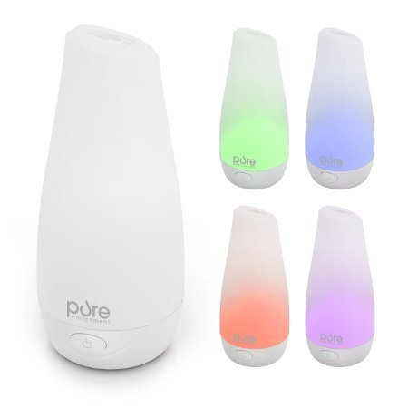 PureSpa Essential Oil Diffuser - Compact Ultrasonic Aromatherapy Diffuser With Ionizer and Color-Changing Kindle