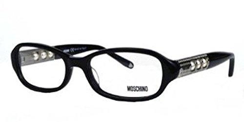 Moschino Women's MO 050 Havana (02) Frame Clear Lens Full Rim Eyeglasses 52mm (Moschino Womens Eyeglasses)
