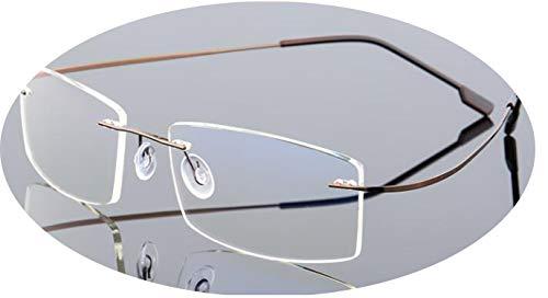 Price comparison product image No Buy No Bye Rimless Computer Glasses Men Anti-Blue Light Glasses Women Gaming Eyeglasses Metal Frame Anti UV Optical Fold Eyewear, 13