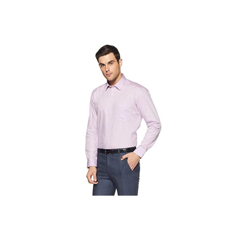 31z0crA5BhL. SS768  - Amazon Brand - Symbol Men's Solid Regular Fit Full Sleeve Cotton Formal Shirt (Combo Pack of 2)