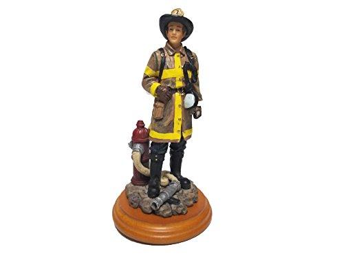 America Statue - Encore Firefighter Statue A Salute to America's Professionals Fireman Ceramic Figure