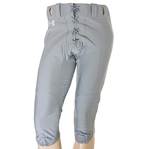 (Under Armour New Men's Heat Gear Football Pants Medium Gray 1000656)