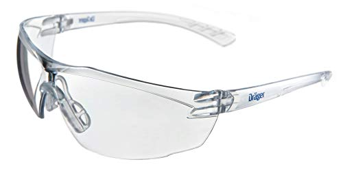 (Drӓger X-pect 8320 Protective Eyewear, ANSI Approved, 10 Pack, Anti-Scratch, Anti-Fog, Break-Resistant Safety Glasses, UV Protection (99.9%), Clear Lenses )