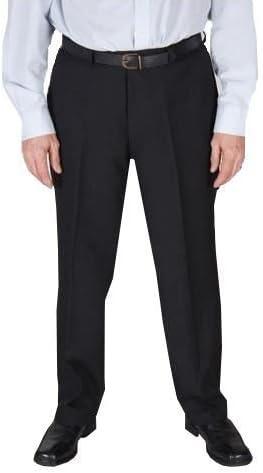 Negro Viscosa Poliéster Dure prensa pantalones Cintura 81.3cm (81 cm) a 157,5 cm (157cm)