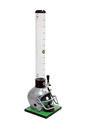 Beer Tubes Grey Football Helmet Beverage Tower Dispenser with Commercial Tap, 100 oz. Tall Tube, FGR-32-C by Beer Tubes