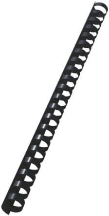 LEITZ 10972 - Canutillos de plástico DIN A4 21 anillas. (caja 100 ud.) 16 mm/ 145 hojas color negro