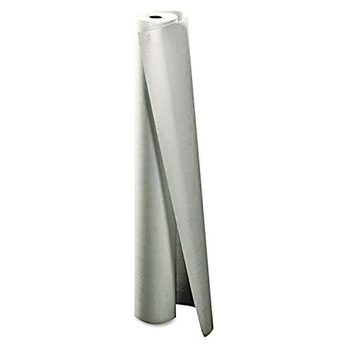 Paper Tablecloth 300-ft Roll, White - Poly Table Lined Cover