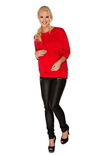My Tummy Umstands Top Sarah Reißverschluss Rücken Rot Umstandsmode von