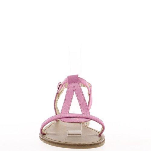 Nu-pieds femme roses à talonnette de 1cm.
