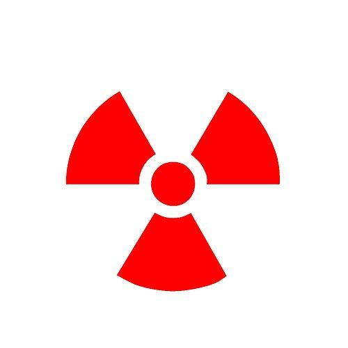 Radioactive Symbol V1 Vinyl Decal by stickerdad - size: 5