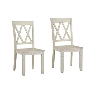 Ready To Live Benton X-Back, White Dining Chairs, Height