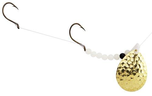 Time Spinners - Hilderbrandt Hammer Time Walleye Spinner, Brass, Blade Size #4 Colorado