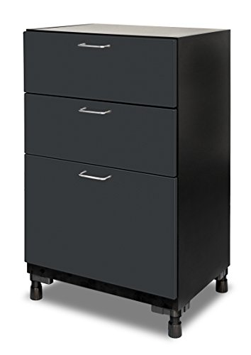 "Mustang Rack MS-03BSPC-GG - 3 Drawer Base Cabinet, DuraSeam Powder Coated - 37""H x 24""W x 18-5/8''D, Garage Grey by Sentron International"