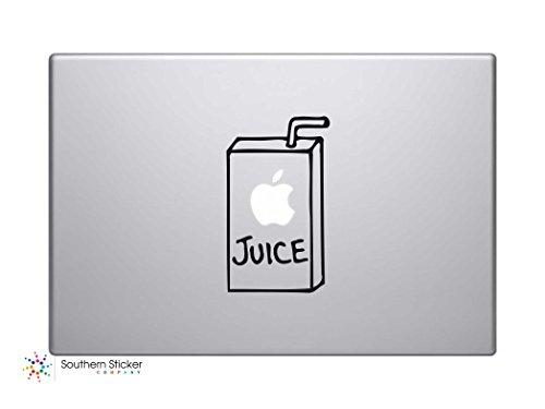 #2 Apple Juice Vinyl Car Sticker Symbol Silhouette Keypad Track Pad Decal Laptop Skin Ipad Macbook Window Truck Motorcycle (Black)