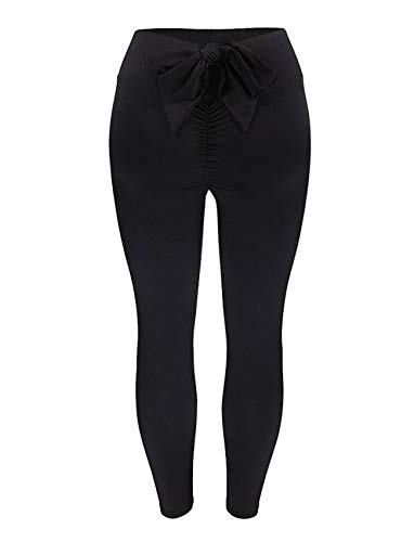 SEASUM Women Scrunch Butt Yoga Pants Leggings High Waist Waistband Workout Sport Fitness Gym Tights Push Up L ()