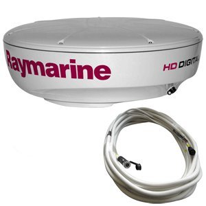 (Raymarine RAY-T70169 RD424HD Hi-Def Color 4KW 24-Inch Digital Radome with 10 Meter Raynet Cable)