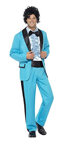 Smiffy's Men's 80's Prom King Costume, Blue L - US Size 42