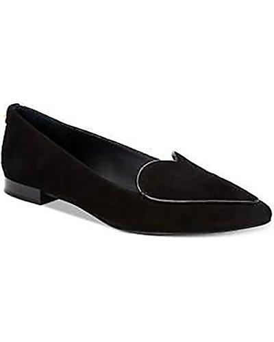 Calvin Klein Womens Ezma Suede Flats, Black (9 M US, Black) (Calvin Klein Black Suede Loafers)