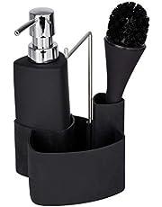 Wenko 3620125100 spoelset Empire afwasmiddeldispenser, afwasborstel, handdoekhouder, inhoud 0,25 l, soft-touch keramiek