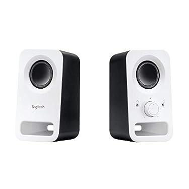 Logitech-Z150-Sistema-de-Altavoces-Compacto-Entrada-Audio-35-mm-Controles-Intregados-Toma-Auriculares-Enchufe-EU-OrdenadorSmartphoneTabletReproductor-de-Musica-Blanco
