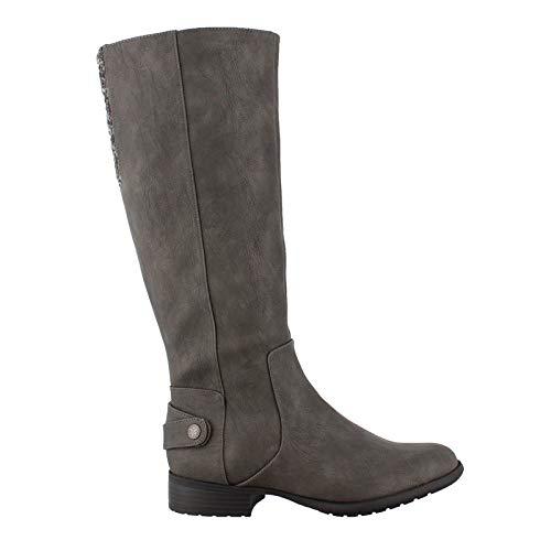 LifeStride Women's, X-Amy Tall Boot - Wide Shaft Grey 8 M
