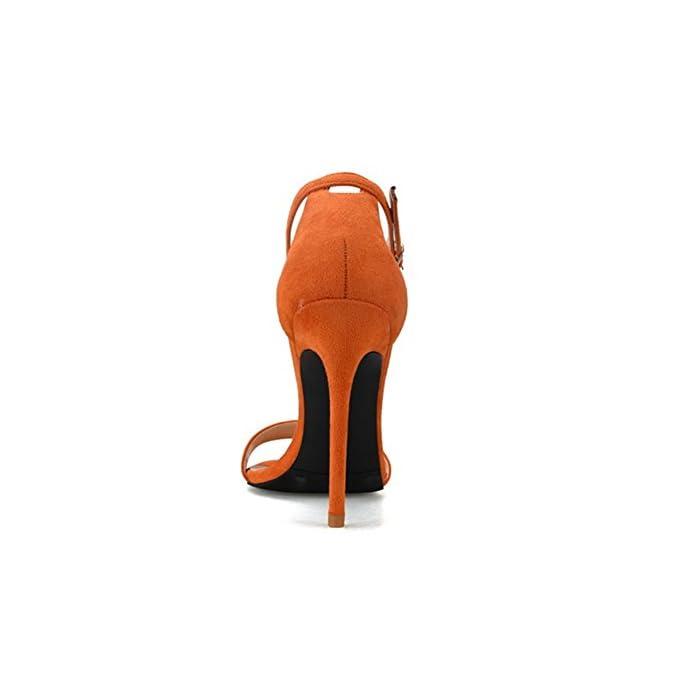 35-44 Tacco Signore Grande Cinghia Donna Hn Del Shoes Stiletto Piede Scarpe Taglia Festa Sbirciare Le Cinghietti Caviglia Dito Sandali