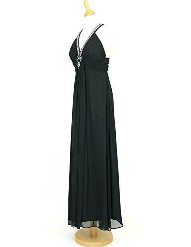 Violetta 42 Ballkleid vers Chiffon 34 Abendkleid Lautinel Trägerkleid Schwarz Bodenlanges Gr Farben qSX7FwZ1xU