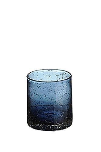 Artland Iris Double Old Fashioned Glasses, Slate Blue, Set of (Old Market Halloween)