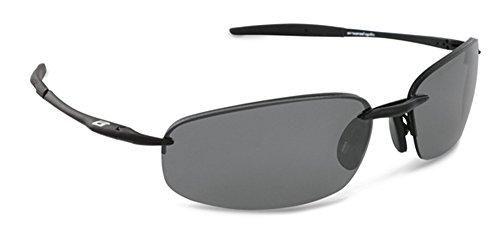 Arsenal Anvil Polarized Rectangular Sunglasses,Satin Black,62 - Lightest Weight Sunglasses Polarized