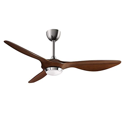 reiga 52-in Ceiling Fan with LED Light Kit Remote Control Modern Blades Noiseless Reversible Motor (hand-painted)