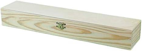 Caja rectangular madera. En crudo, para pintar. Ideal para pinceles ...