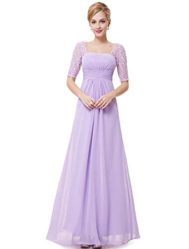 Ever Pretty Womens Ruched Waist Summer Bridesmaids Dress 6 US Light Purple