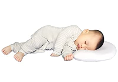 Flat Head Pillow Include a Head Shaping Memory Foam and Extra Cool-max White Pillowcases. Protect Babies' Head Round of Plagiocephaly or Flathead Syndrome. Amazing Shower Gifts for Infants and Newborn