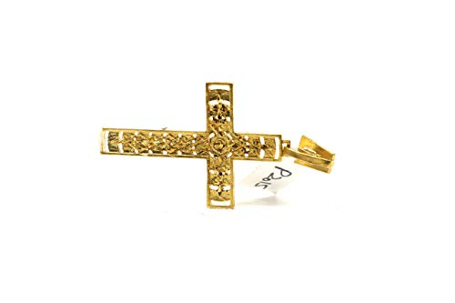 forever22karat 22k Elegant Unique Jesus Cross Pendant 22k Plated p2015