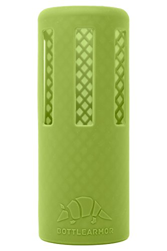 BottleArmor Protective Silicone Sleeve for Hydro Flask Water Bottles with DropShield Technology (Lime, 40 (Protective Silicone)