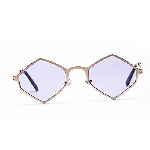 monture soleil UV Malloom en Violet pour métal à femme hexagonale Lunettes de Lunettes wd6qxIYY