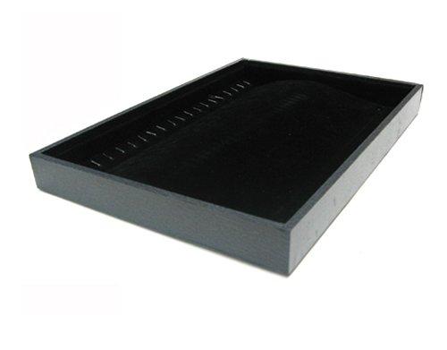 Samt -Vorlagebrett für Ketten in schwarz -