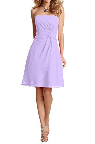 Brautjungfernkleider linie Neu Summer Kurz Partykleider Traegerlos mia Lilac La Abendkleider Elegant A Chiffom Braut w0xnq7PS